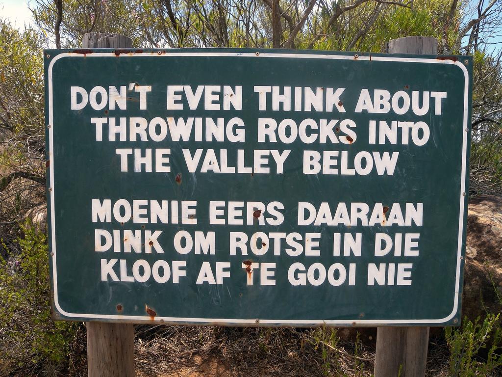 Het Afrikaans is minder grappig dan je soms denkt