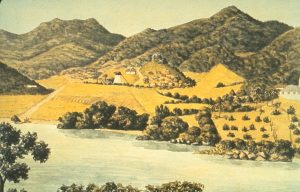 Sugar Plantation and Slave Settlement, St. John, Virgin Islands, 1833; Image Reference NW0089, as shown on www.slaveryimages.org, compiled by Jerome Handler and Michael Tuite, and sponsored by the Virginia Foundation for the Humanities and the University of Virginia Library.
